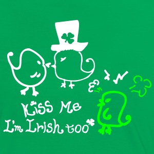 Kiss me I'm Irish too st.patty's day Women's Contr - Women's Ringer T-Shirt