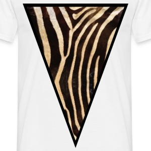 Triangle Zebra - Men's T-Shirt