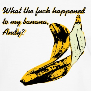 What The F**K Happened to My Banana? T-Shirts - Men's Ringer Shirt