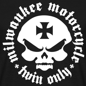 milwaukee motorcycle twin skull and maltese cross - Men's T-Shirt