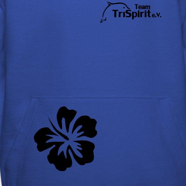 Leni Blumen Pullover schwarzes Logo