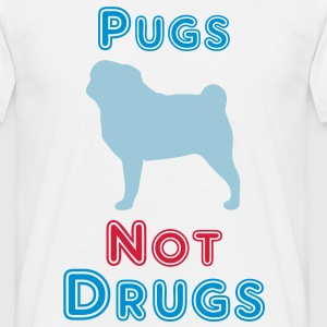 Pugs Not Drugs T-shirts - Herre-T-shirt