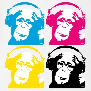 4 dj monkeys T-Shirts - Baby Bio-Kurzarm-Body