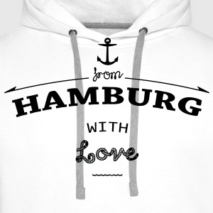 From Hamburg with love Pullover & Hoodies - Männer Premium Hoodie