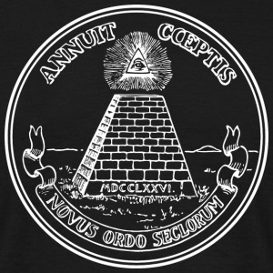 All seeing eye, pyramid, dollar, freemason, god T-shirts - T-shirt herr