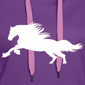 Horse  Sweat-shirts - Sweat-shirt à capuche Premium pour femmes