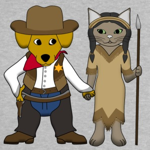 Sheriff dog and cat Magliette - Maglietta per neonato