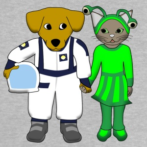space dog and alien cat Tee shirts - T-shirt Bébé