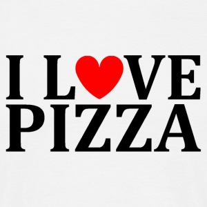I love pizza - Männer T-Shirt