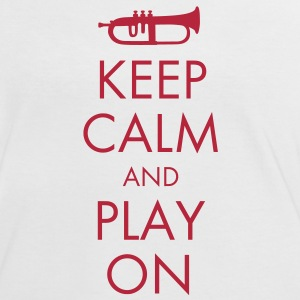 Keep Calm And Play On T-Shirts - Frauen Kontrast-T-Shirt