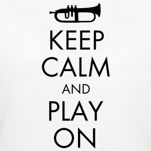 Keep Calm And Play On T-Shirts - Women's Organic T-shirt