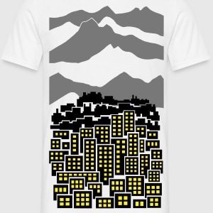 City Mountains Landscape - Men's T-Shirt