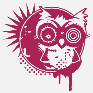 Graffiti Sticker with an owl - monochrome  Aprons - Cooking Apron