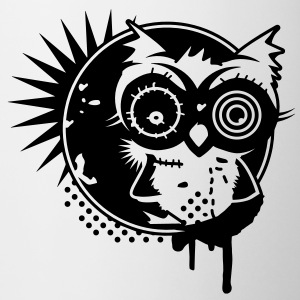 Graffiti Sticker with an owl - monochrome Bottles & Mugs - Mug