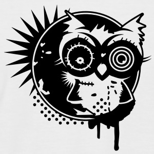 Graffiti Sticker with an owl - monochrome T-Shirts - Men's Baseball T-Shirt