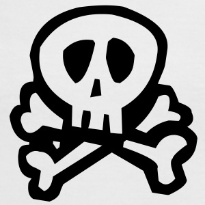 Comic Pirate Skull T-Shirts - Frauen Kontrast-T-Shirt