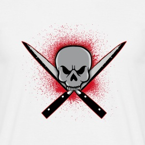 Skull with crossed knifes T-Shirts - Men's T-Shirt