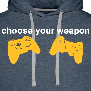 choose your weapon Pullover - Männer Premium Hoodie