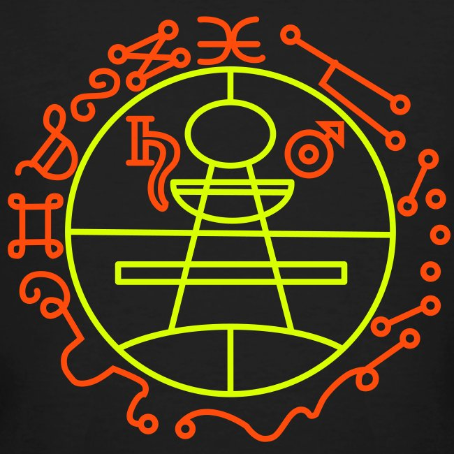 Key of Solomon UV-Neon Men's Bio Shirt | Men's Organic T-Shirt