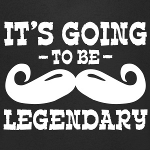 it's going to be legendary / moustache T-paidat - Miesten V-kaula-aukkoinen t-paita