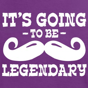 it's going to be legendary / moustache T-skjorter - Kontrast-T-skjorte for kvinner