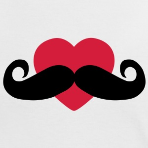 heart moustache / love moustache T-Shirts - Frauen Kontrast-T-Shirt