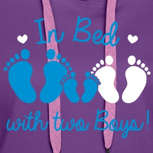 in bed with two boys Hoodies & Sweatshirts - Women's Premium Hoodie