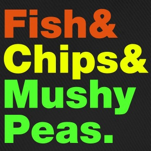 Fish & Chips & Mushy Peas. Caps & Hats - Baseball Cap