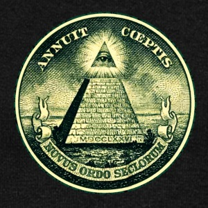 All seeing eye, pyramid, dollar, freemason, god Sweaters - Vrouwen trui met U-hals van Bella