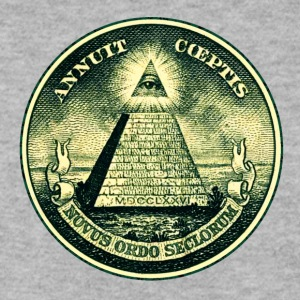 All seeing eye, pyramid, dollar, freemason, god Sweat-shirts - Sweat-shirt Homme