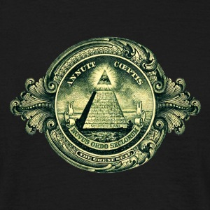 All seeing eye, pyramid, dollar, freemason, god T-shirts - Herre-T-shirt