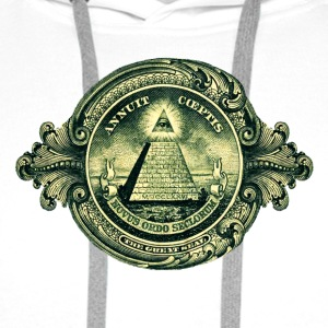 All seeing eye, pyramid, dollar, freemason, god Hoodies & Sweatshirts - Men's Premium Hoodie