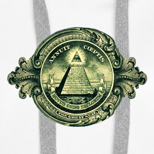 All seeing eye, pyramid, dollar, freemason, god Sweat-shirts - Sweat-shirt à capuche Premium pour femmes