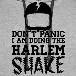 Don't panic do the Harlem shake meme dance t-shirt Sweaters - Mannen Premium hoodie