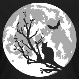cat on moon T-Shirts - Frauen T-Shirt