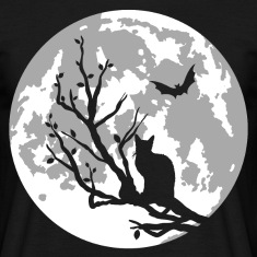 cat on moon T-Shirts
