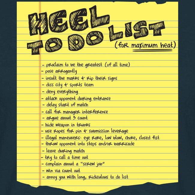 Heel To Do List (Men)