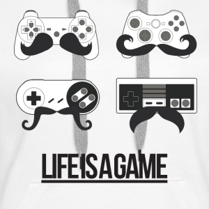 Life is a game (Femme) - Sweat-shirt à capuche Premium pour femmes