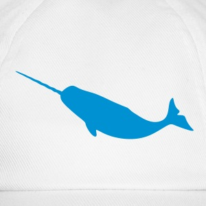 Narwhal Silhouette Caps & Hats - Baseball Cap