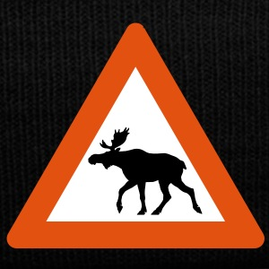 Warning Moose Sign Caps & Hats - Winter Hat