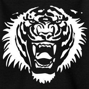 Roaring Tiger One Colour by Cheerful Madness!! Shirts - Kids' T-Shirt