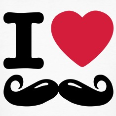 i love moustache Camisetas