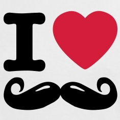 i love moustache Tee shirts