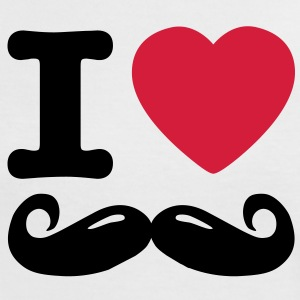 i love moustache T-shirts - Vrouwen contrastshirt