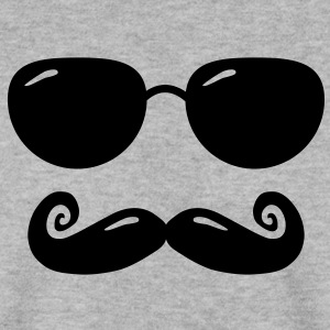sunglasses and moustache Pullover & Hoodies - Männer Pullover