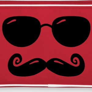 sunglasses and moustache Borse - Borsa retrò