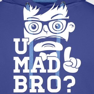 Like a cool you mad story bro moustache Sweat-shirts - Sweat-shirt à capuche Premium pour hommes