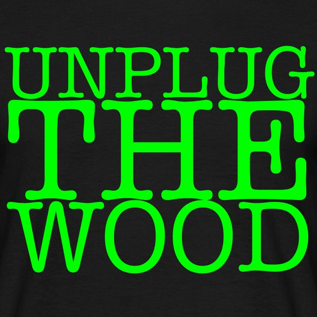 Unplug The Wood Square Neon - Mens