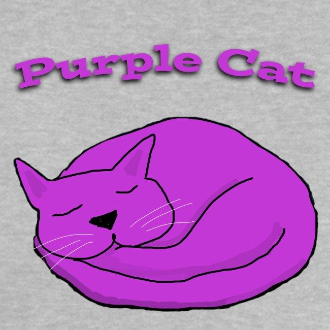 Baby Sleeping Purple Cat T