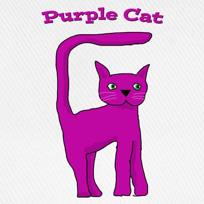 Purple Cat Baseball Cap